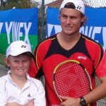 Lleyton and I when I first joined with Yonex at the age of 10 years old. This was the first time I had met and hit with my idol, and for a 10 year old I was pretty stoked.